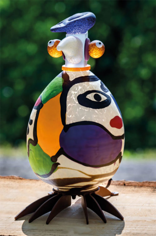 Glass Bird Lamp as Pablo Picasso
