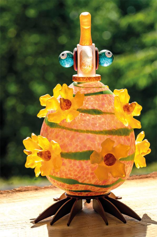 Glass Bird Lamp as Vincent Van Gogh