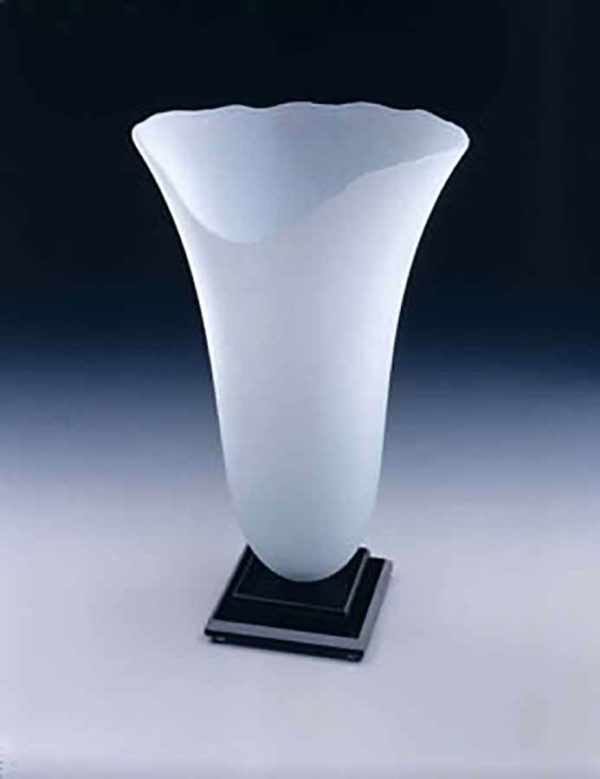 Frosted Oval Vase