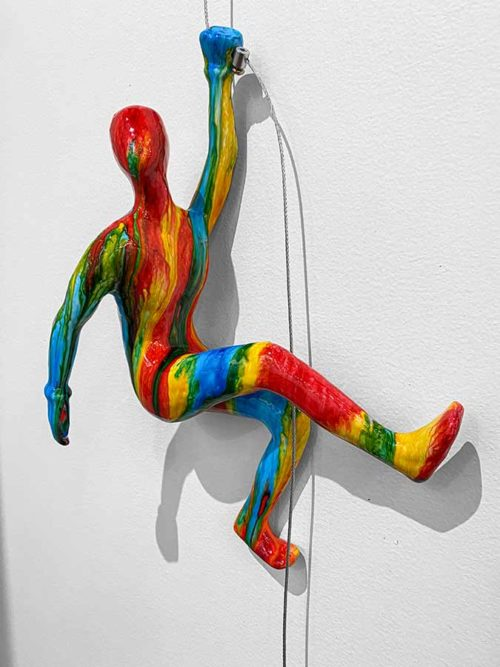 Rainbow Tie Dye Wall Climber Sculpture