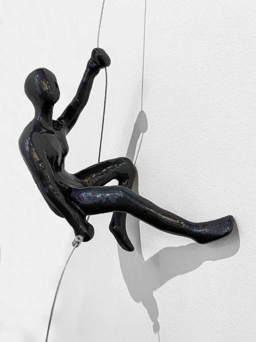 Pewter Wall Climber Sculpture