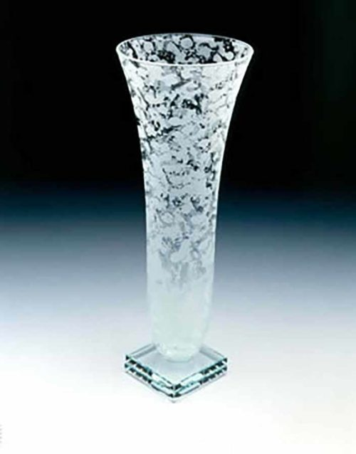 Marbled Glass Vase