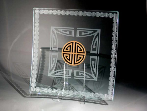 Clear Square Platter