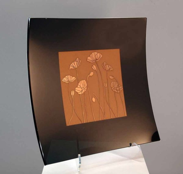 Black and Gold Square Platter