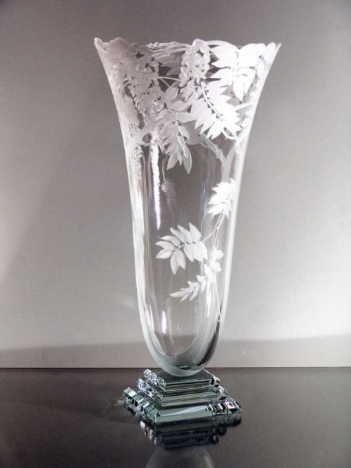 Clear Vase with Foliage