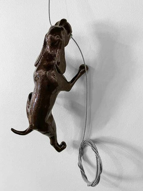 Brown Dog Wall Sculpture