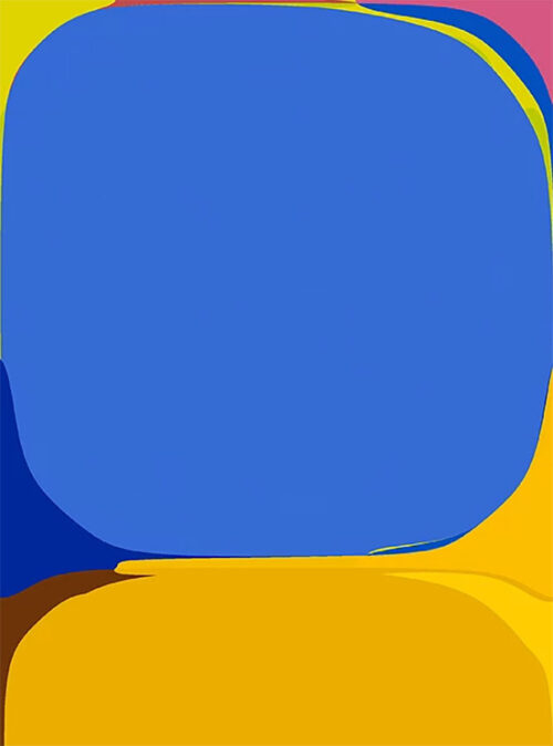 Blue and Yellow Minimalist Print