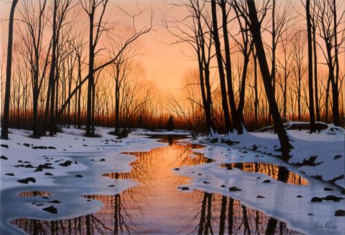 Winter Landscape before Spring