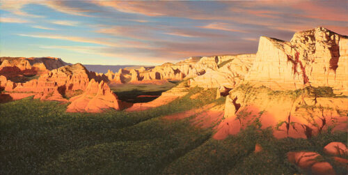 Painting of Sedona Arizona Cliffs