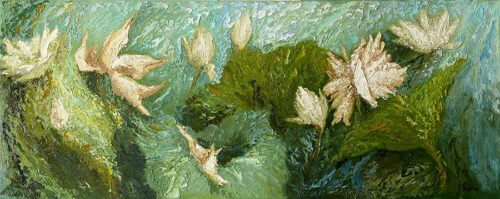 Green Floral Painting