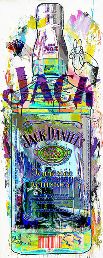 Contemporary Painting of Jack Daniels Bottle