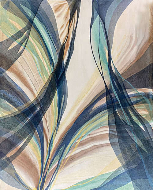 Organic Colored Contemporary Abstract Painting