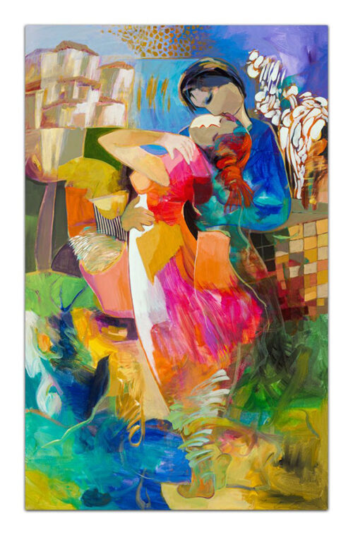 After Solitude by Hessam Abrishami. Artwork featuring vibrant colors and contemporary figure paintings. Abstract paintings that energize spaces.