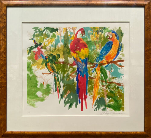 Serigraph on Paper of Tropical Birds