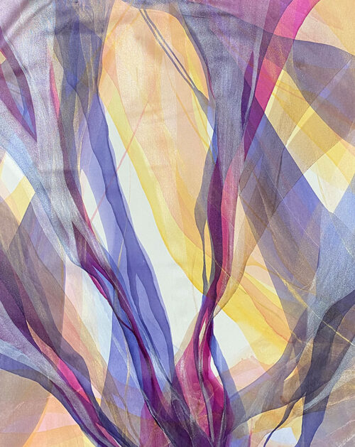 Purple and yellow abstract painting