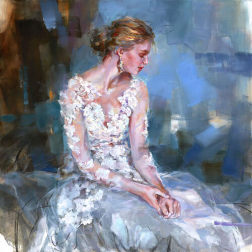 Painting of Woman in Wedding Gown