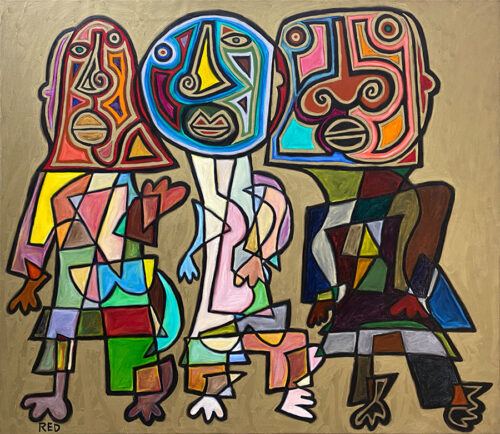Abstract, Cubist, Figurative Painting