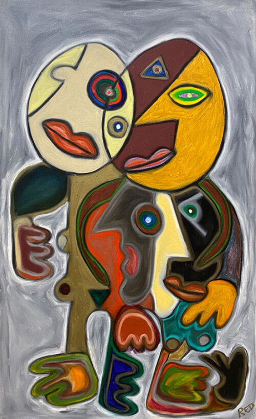 Abstract, Cubist, painting