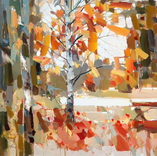 Beyond the Fall by Josef Kote. Take a walk throught the forest anytime with this contemporary work of art.