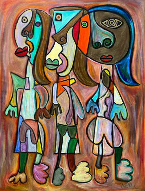 Original Painting of abstract figures