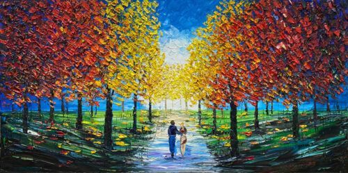 Colorful Park Painting