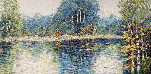 Pastel Painting of a Landscape