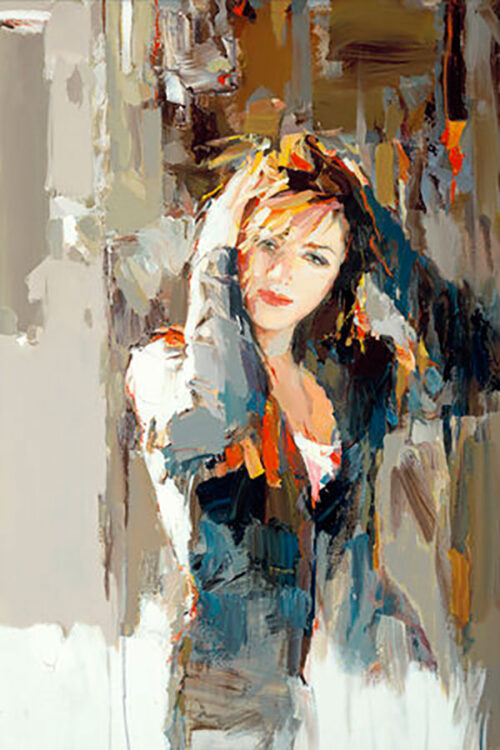 Abstract Painting of Woman