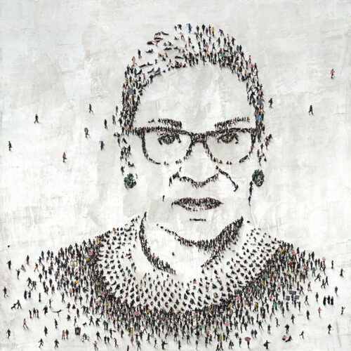 RBG by Craig Alan. Part of the Populus Series, paying homage to the late Supreme Court Justice and Women's Rights Activist, Ruth Bader Ginsburg.