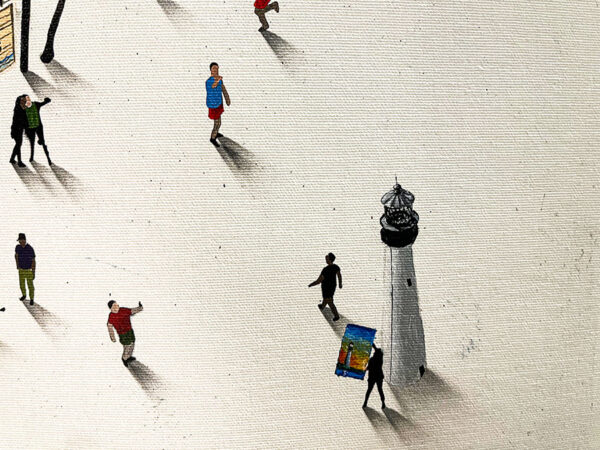 Beach Painting with small figures