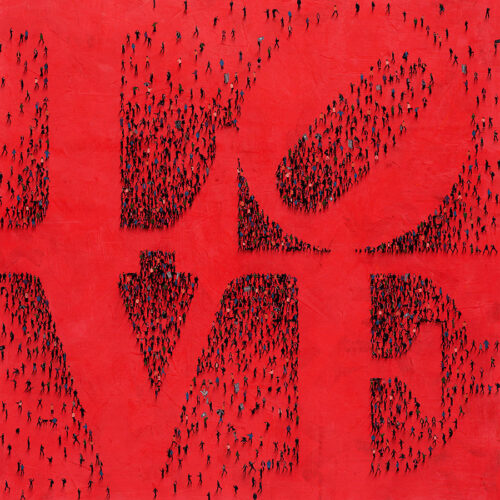 Robert Indiana Love Sculpture as Red Painting