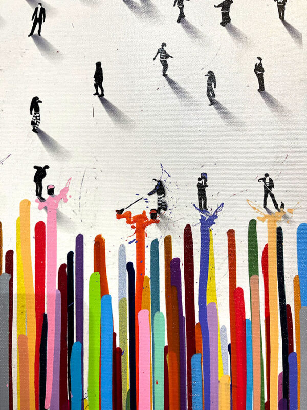 Abstract Figurative painting with bright colors