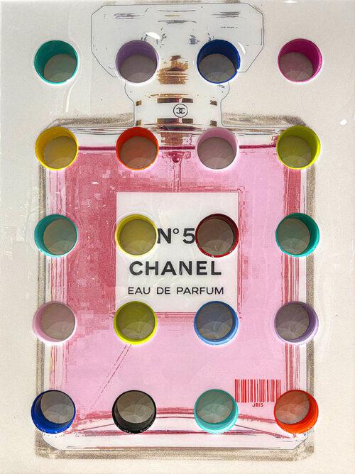 Pink Chanel No. 5 Perfume Bottle