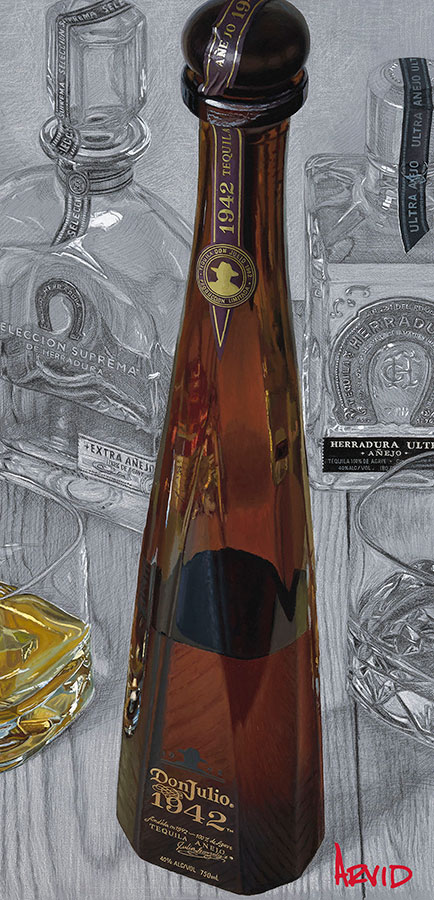 Don Julio Tequila Bottle Painting