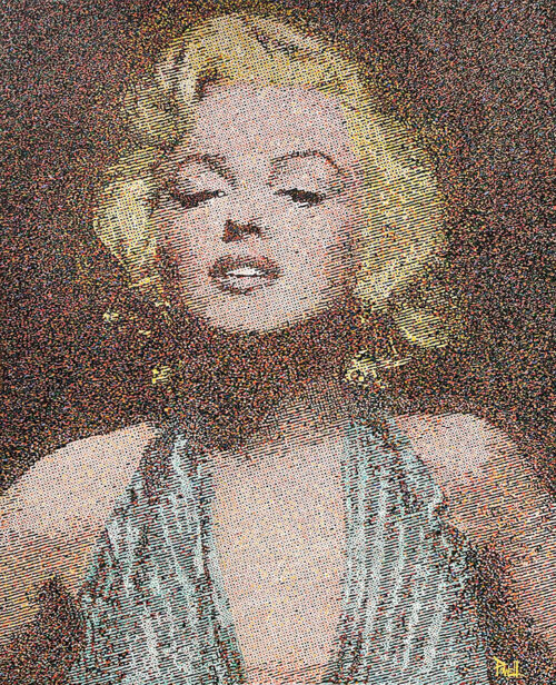 Colorful Painting of Marilyn Monroe