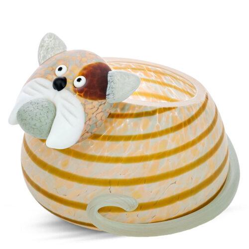 Cat Glass Bowl