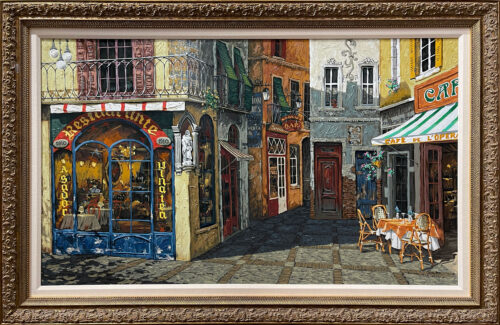 Painting of Tuscan City